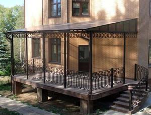 террасы из поликарбоната пристроенные к дому фото