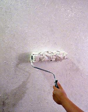 Фактурная краска для стен своими руками видео 465