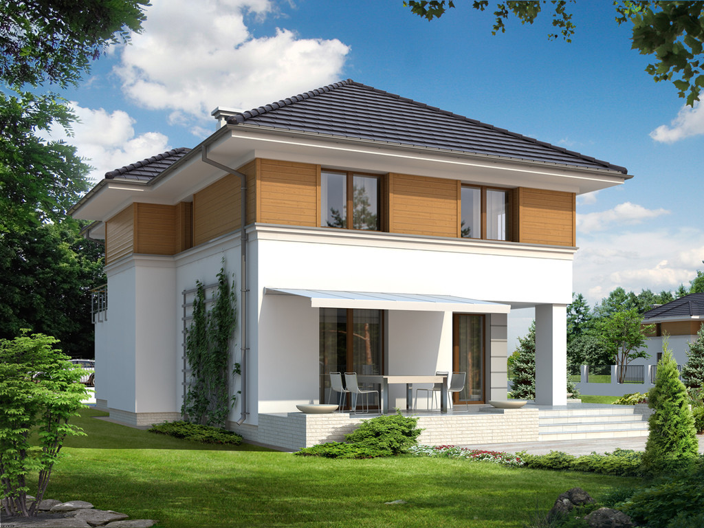 Фасады частных домов из кирпича - 100 фото красивых