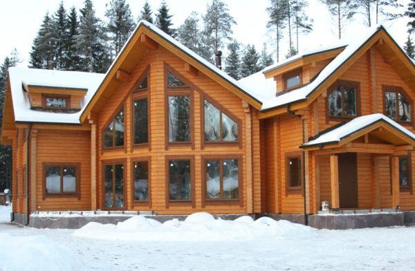Дом из клеёного бруса по финской технологии