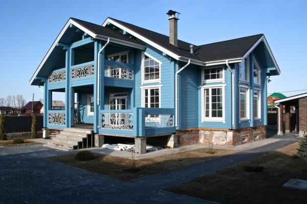 Дом из клеёного бруса в финском стиле