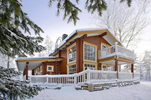 Финский дом из клеёного бруса