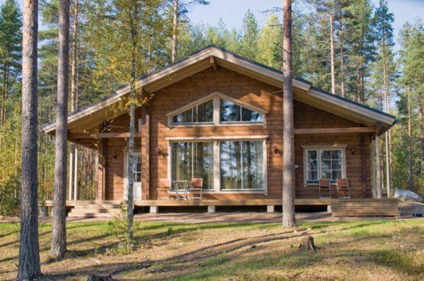 Финский дом на основе клеёного бруса