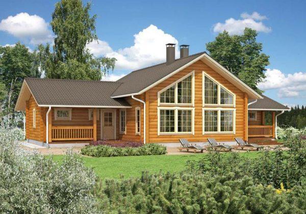 Дом из клеёного бруса по финскому проекту