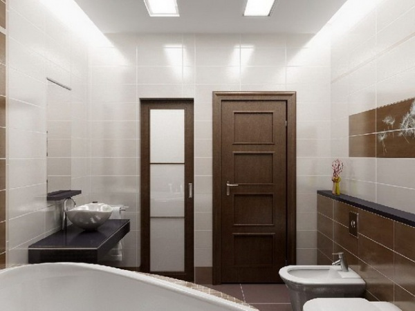 Двери из экошпона в ванной