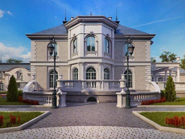 Фасад дома в стиле барокко