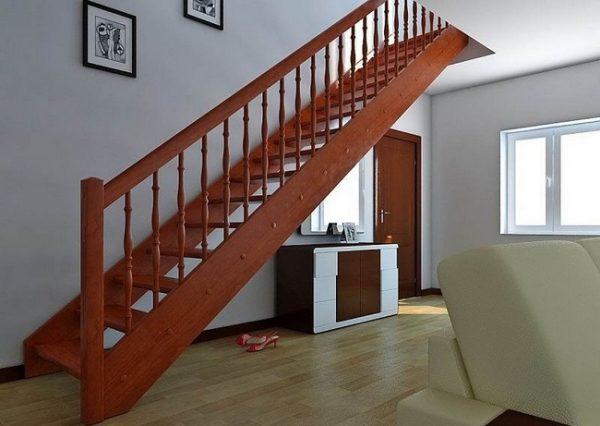 Лестница с тетивами