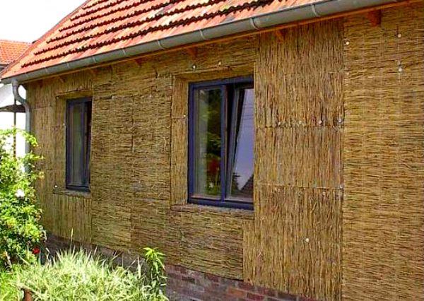 Каркасно-камышитовый дом