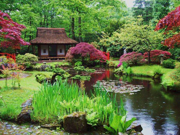 Вода в японском ландшафтном дизайне