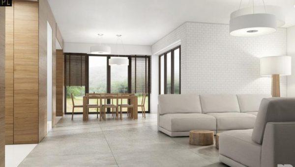 Лаконичный минималистичный дизайн гостиной