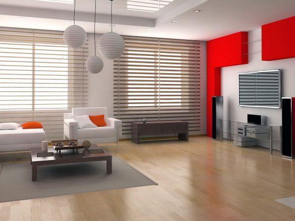 Современный минималистичный дизайн гостиной