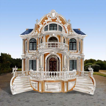 Проект фасада дома в стиле барокко