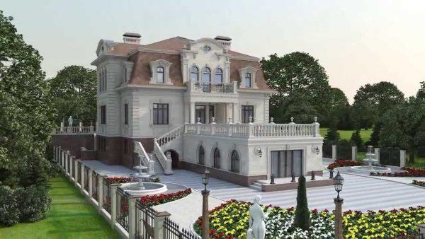 Модель дома в стиле барокко