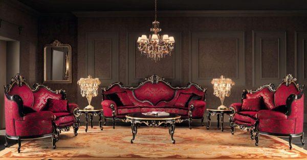 Оформление гостиной в стиле барокко