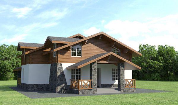 дом шале в альпийском стиле