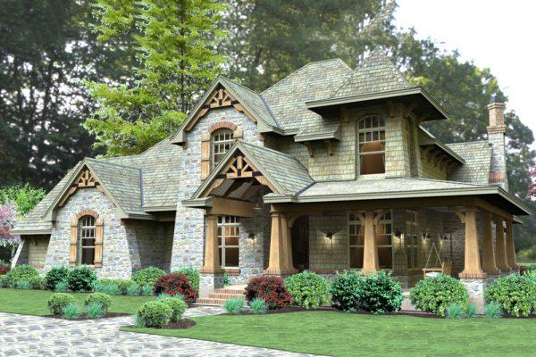 Дизайн оригинального фасада дома