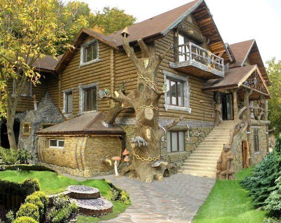 Проект хорошего сказочного фасада дома