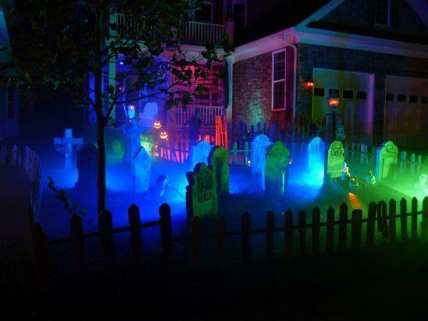 светящиеся могилы на хэллоуин