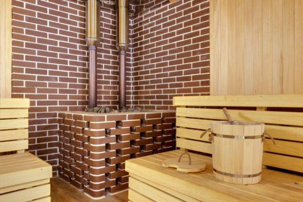 Водостойкая клинкерная плитка во внутренней отделке стен