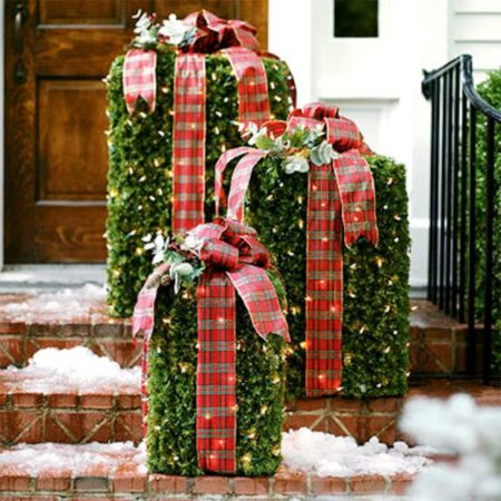 Декор в виде подарков