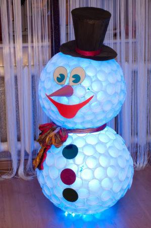 Снеговик на Новый 2019 год своими руками
