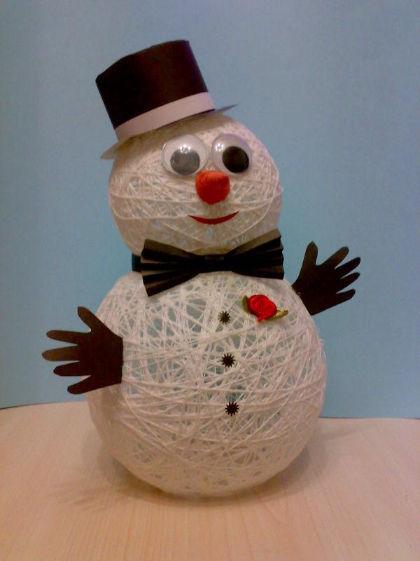 рейде перед снеговик из ниток своими руками пошаговое фото чем