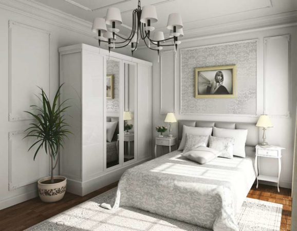 как лучше расставить мебель в спальне