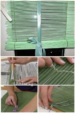 Жалюзи из бумажных трубочек