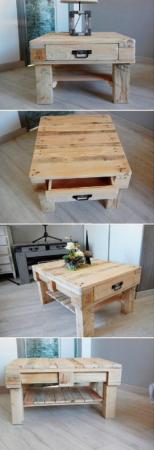 Столик из деревянных поддонов