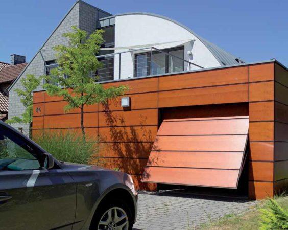 Подъёмно-поворотные ворота для гаража