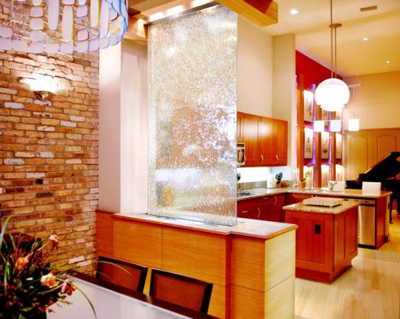 Водная стена на кухне