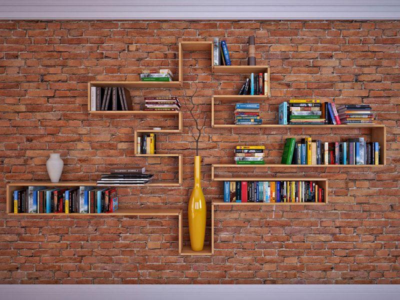Идеи книжных полок в интерьере в подборке фото