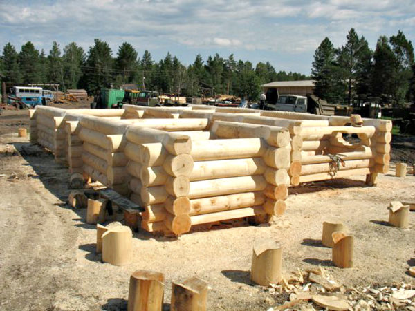 стрроительство дома из осины