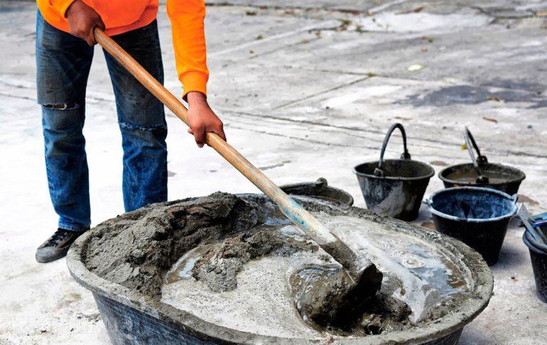 Смешать бетон стыковать бетон