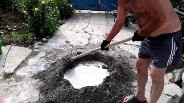 как замешать бетон вручную