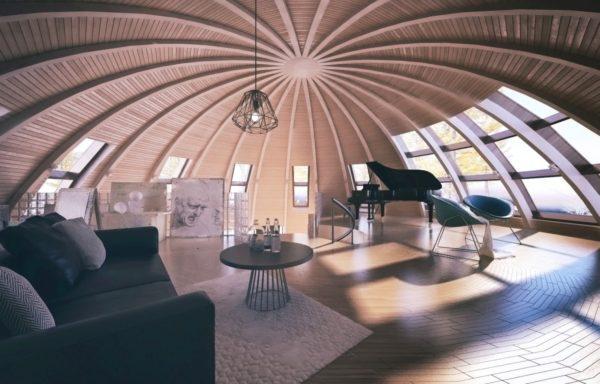 круглый дом внутри