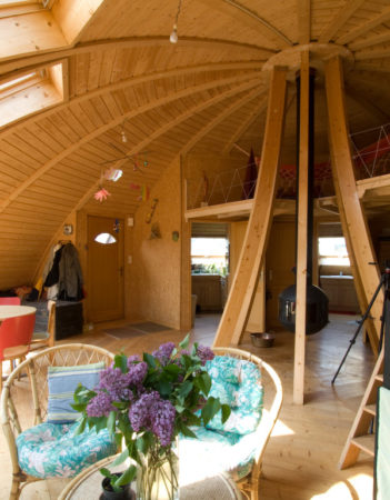 интерьер круглого дома