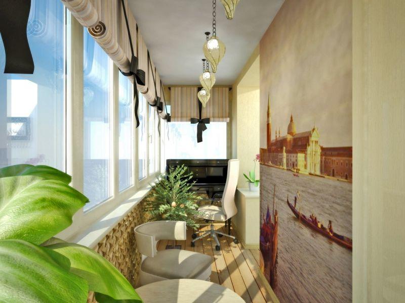 Фотообои на балконе: рай на небольших квадратных метрах