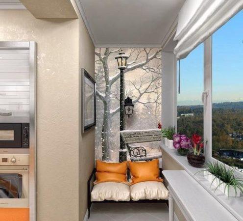 фотообои на балконе