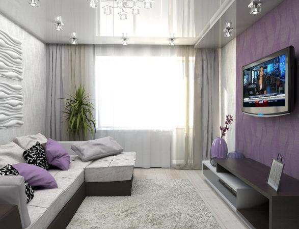 Комната с глянцевым потолком