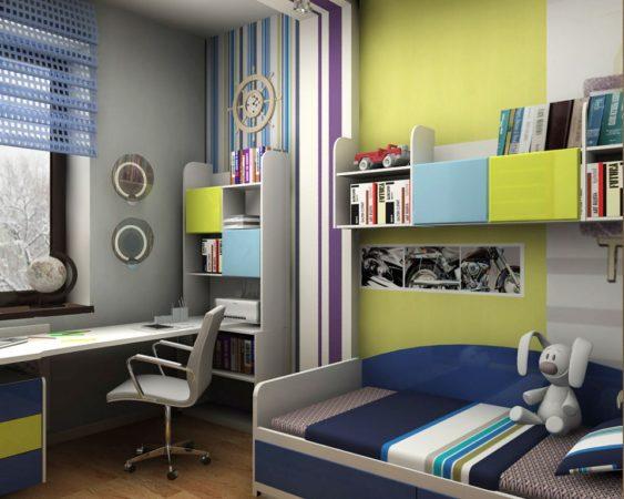 Интерьер маленькой комнаты для мальчика