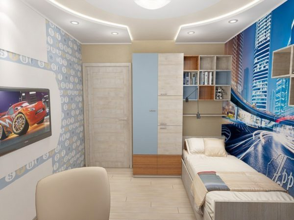 Детская комната площадью 12 кв м