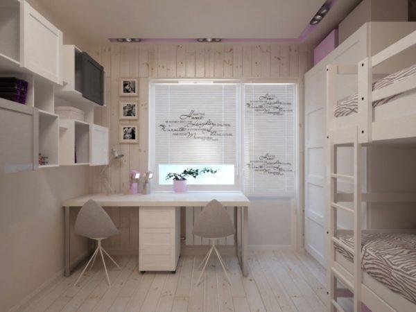 Светлый интерьер детской комнаты