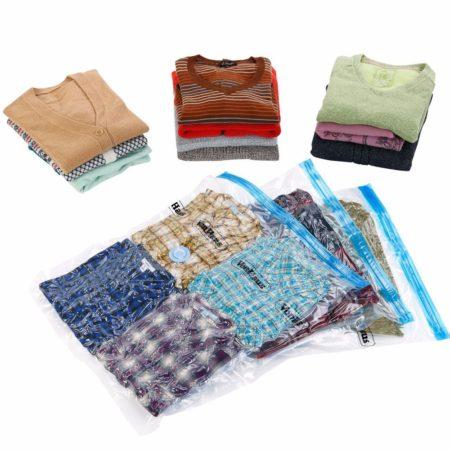 Одежда в вакуумных пакетах
