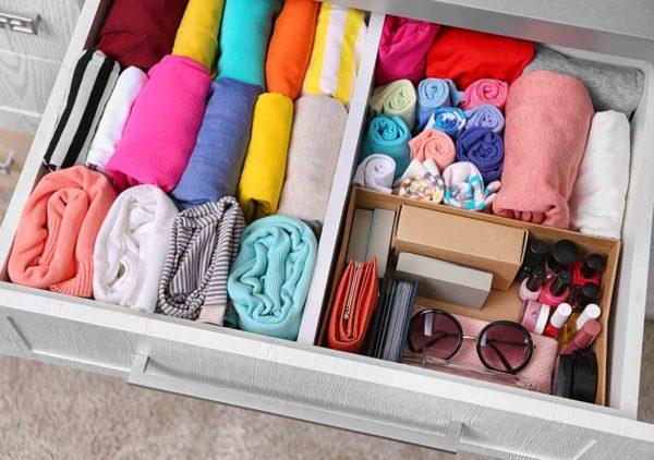 Одежда в ящике