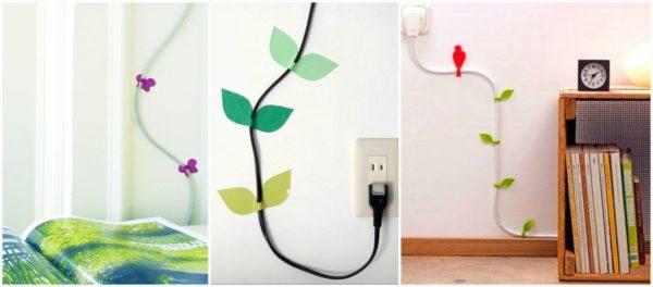 Наклейки для декора кабеля