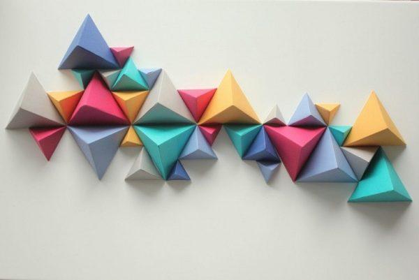 Оригами на стене