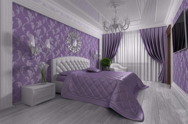 Покрывало под цвет интерьера спальни