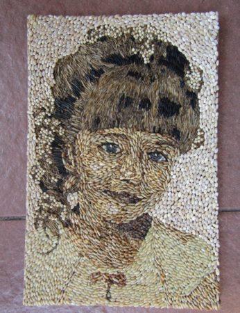 Картина из зерна и семян