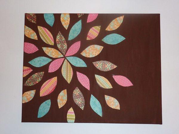 Цветочное панно из ткани